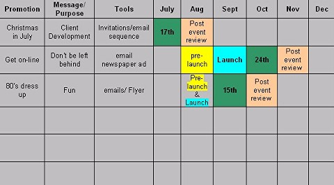 how to create a marketing calendar central coast small business networking group inc. Black Bedroom Furniture Sets. Home Design Ideas